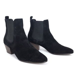 SAM EDELMAN Boots Reesa Booties Suede Pull On 8